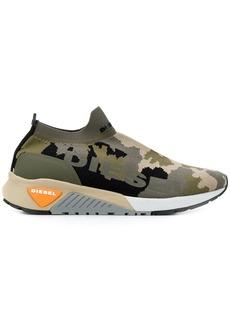 Diesel camouflage knit sneakers