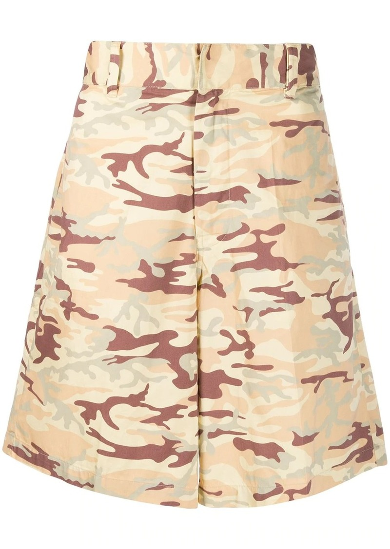 Diesel camouflage-print shorts