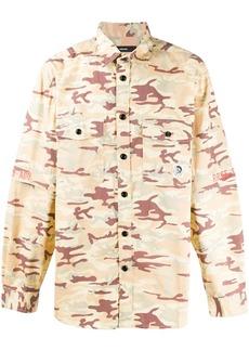 Diesel camouflage-print two-pocket overshirt