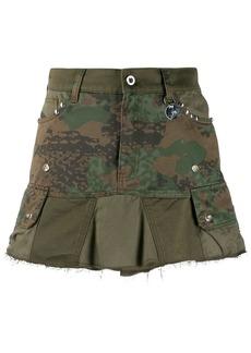 Diesel camouflage studded mini skirt