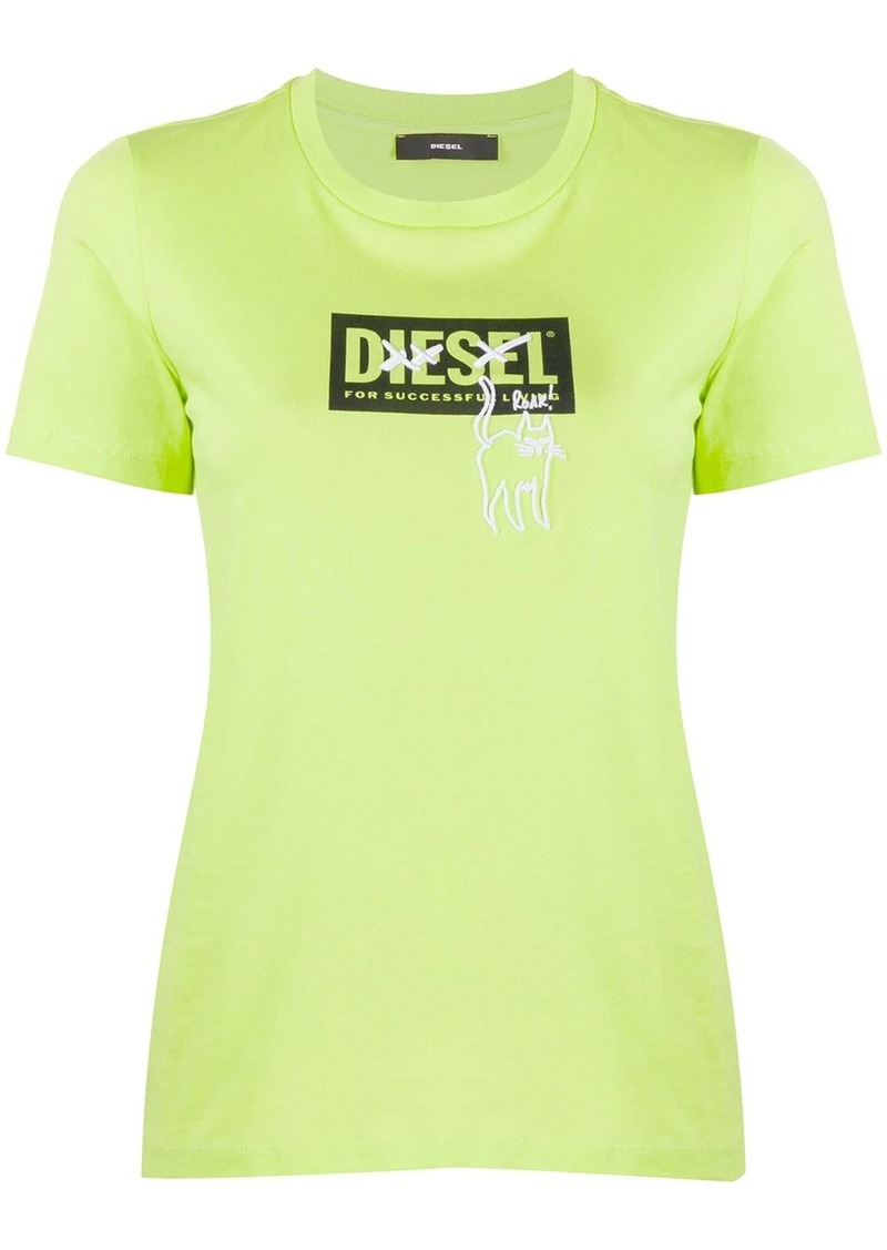 Diesel cat-embroidered slim-fit T-shirt