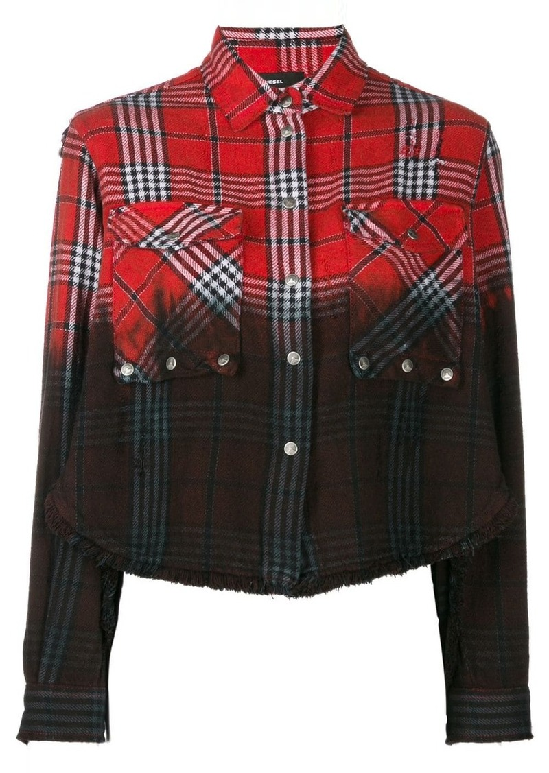Diesel check gradient shirt