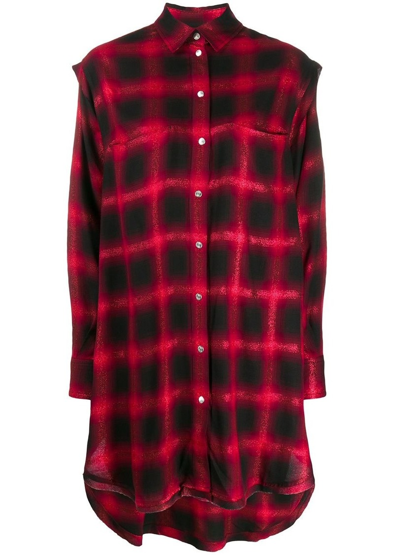 Diesel check print shirt dress