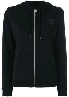 Diesel chest print zipped hoodie