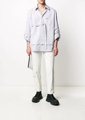 Diesel chest-tie striped shirt