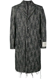 Diesel chevron single-breasted coat