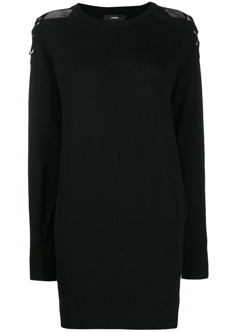 Diesel cold-shoulder sweater dress