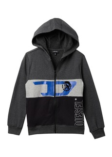Diesel Color Block Zip Hoodie (Big Boys)