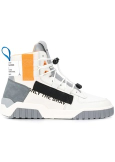 Diesel colour-block high top sneakers