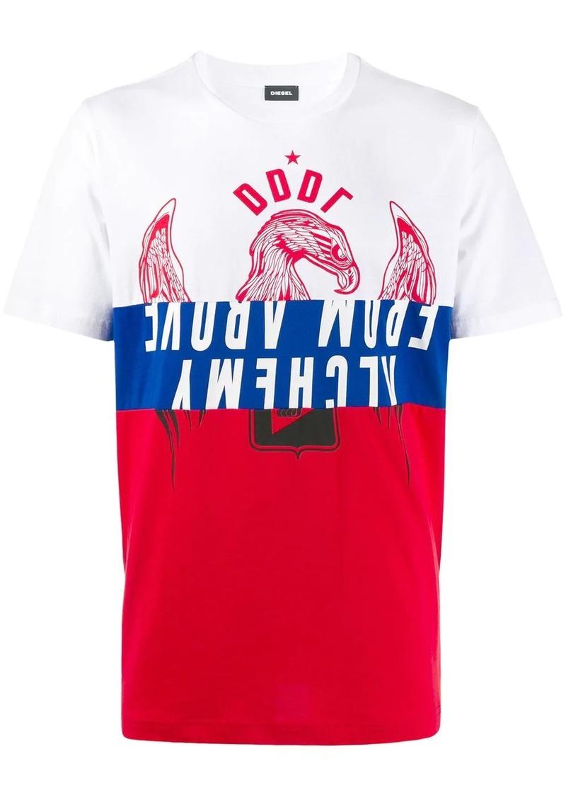 Diesel colour block motif T-shirt