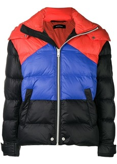 Diesel colour block padded jacket