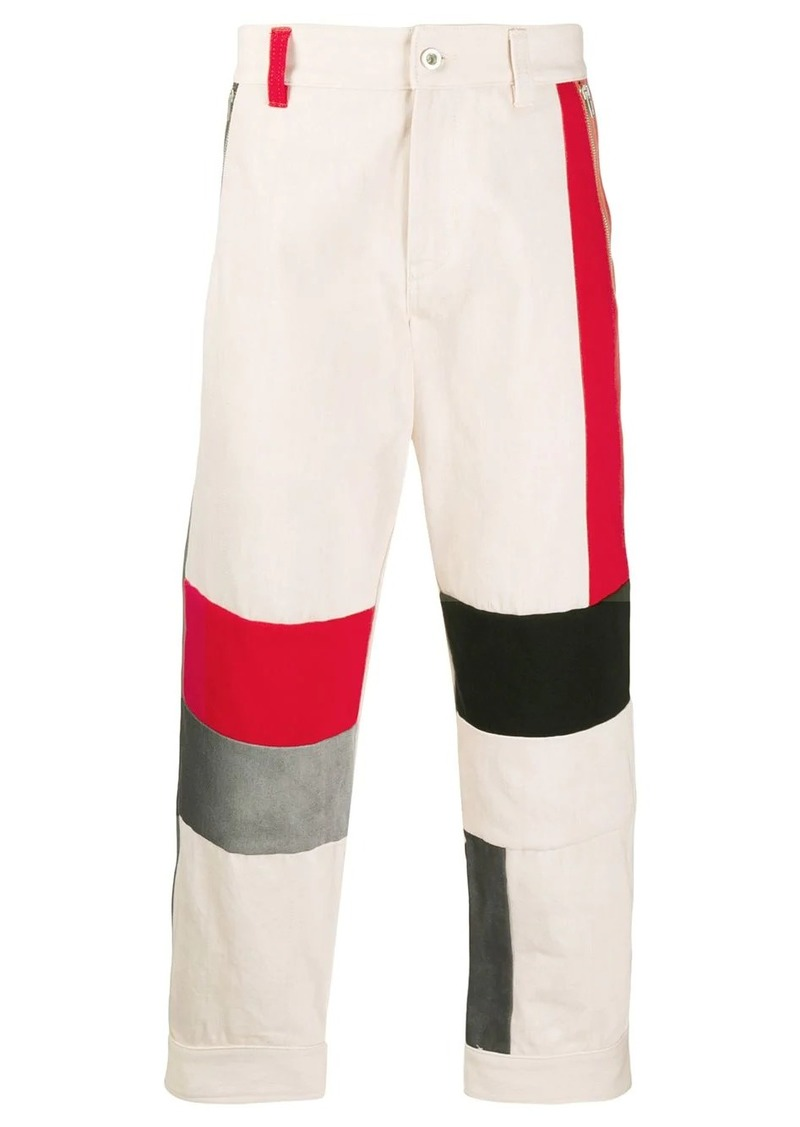 Diesel colour block trousers