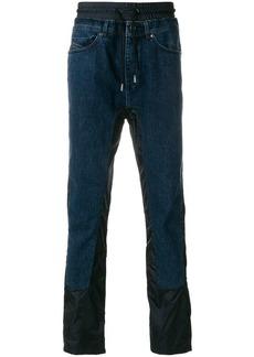 Diesel contrast panel straight-leg jeans