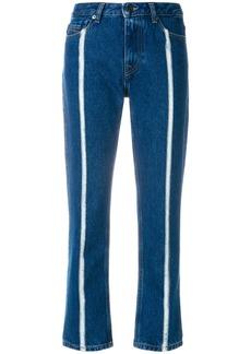 Diesel contrast stripe cropped jeans