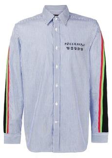 Diesel contrast stripe shirt
