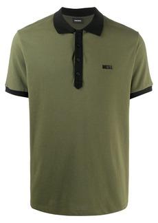 Diesel contrast-trim polo shirt
