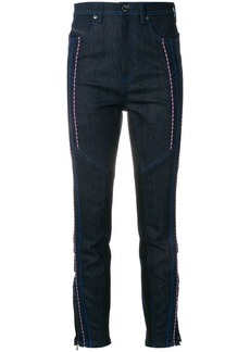 Diesel cord-embellished straight leg jeans