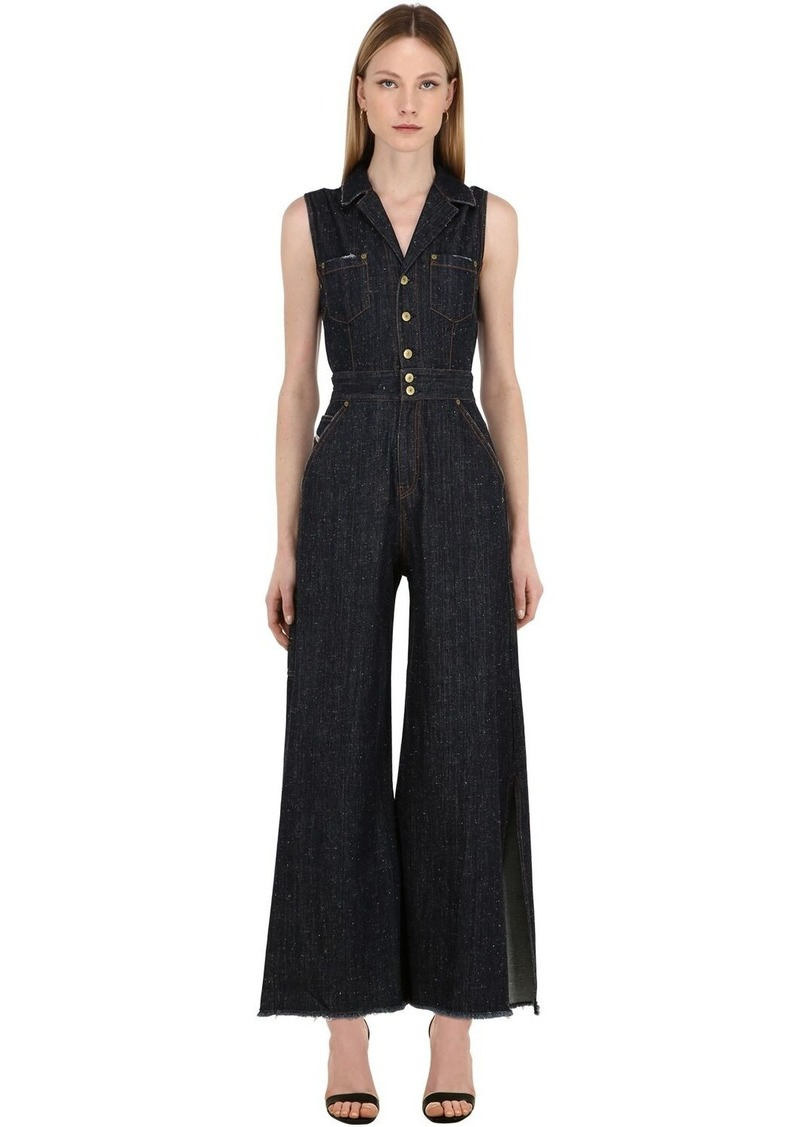 Diesel Cotton Blend Denim Jumpsuit