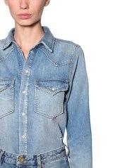 Diesel Cotton Denim Dress W/ Detachable Skirt