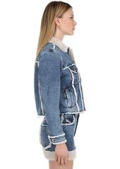 Diesel Cotton Denim Jacket W/ Faux Shearling