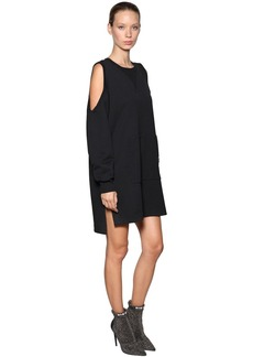 Diesel Cotton Sweatshirt Dress W/ Cutouts