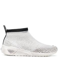 Diesel crack-effect sock sneakers