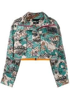 Diesel cropped camouflage print jacket