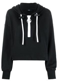 Diesel cropped cotton hoodie