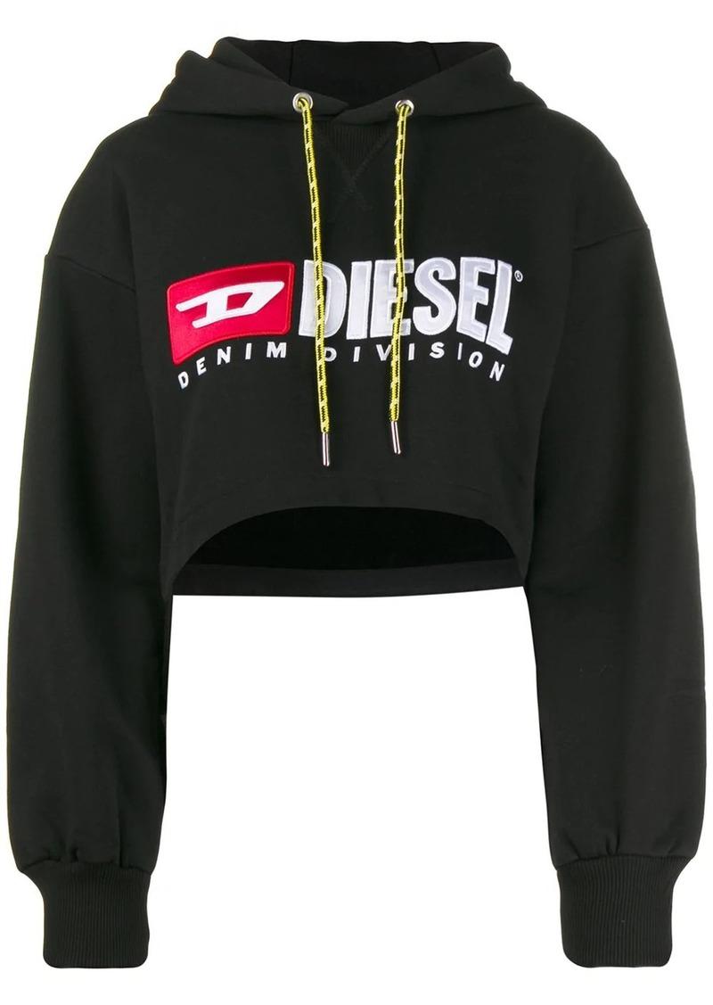 Diesel cropped hooded sweatshirt