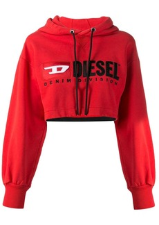 Diesel Cropped hoodie with denim division logo