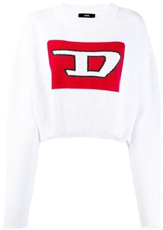 Diesel Cropped pullover with 3D intarsia