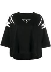 Diesel cropped sleeve tribal print T-shirt