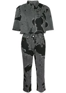 Diesel cropped spotted jumpsuit