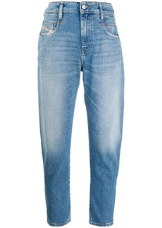 Diesel cropped tapered-leg jeans