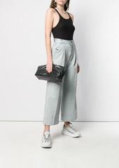 Diesel cropped wide jeans in light-cast denim