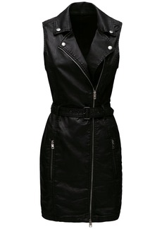 Diesel D-aico-ne Coated Denim Mini Dress