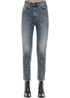 Diesel D-eiselle Cotton Denim Straight Jeans