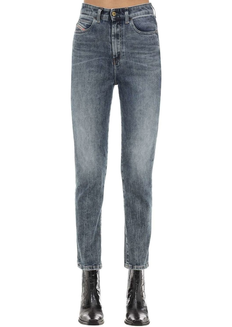 Diesel D-eiselle Cotton Denim Straight Jeans