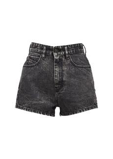 Diesel D-isi High Waist Washed Denim Shorts
