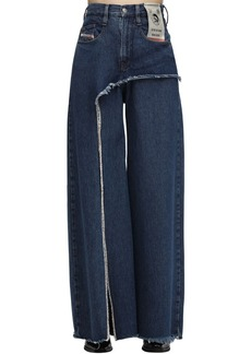 Diesel D-izzier Wide Leg Cotton Denim Jeans