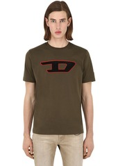 Diesel D Logo Patch Cotton Jersey T-shirt