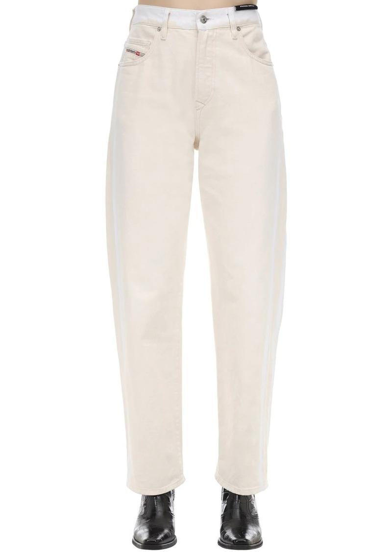 Diesel D-reggy Straight Leg Cotton Denim Jeans