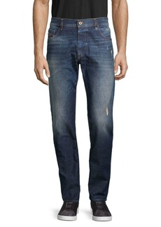 Diesel D-Strukt Distress Tapered Jeans