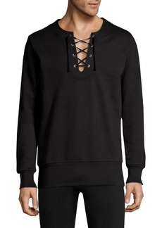 Diesel DBG Lace-Up Cotton Sweatshirt