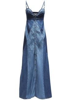 Diesel De-aryna Lyocell Denim Maxi Dress