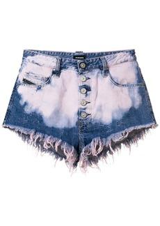 Diesel De-Ginger bleached denim shorts