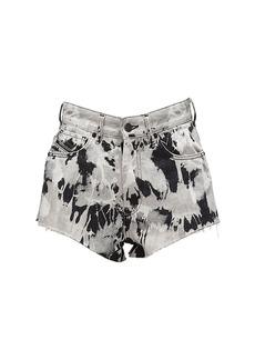 Diesel De-higwei Printed Cotton Denim Shorts