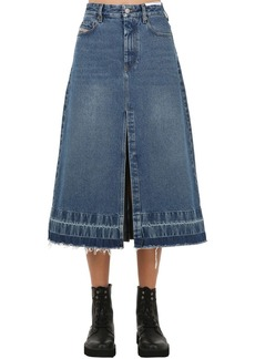 Diesel De Ingrid Raw Cut Denim Midi Skirt