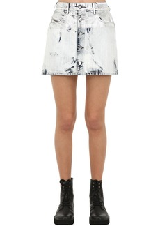 Diesel De Jody Marble Effect Denim Mini Skirt