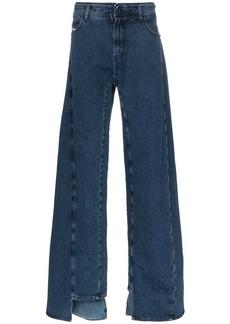 Diesel decay wide leg jeans
